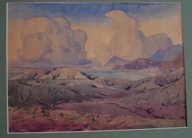 Maximilian Alexandrovich Voloshin. Clouds over the lake