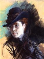 Джованни Больдини. Девушка в черной шляпе