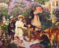 In the lilac garden. 2004