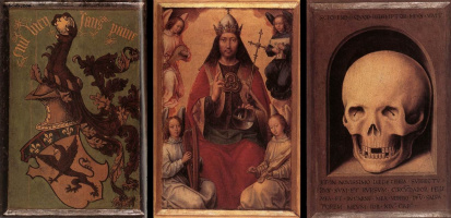 Triptych of earthly vanity and divine salvation. The reverse side