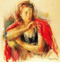 Хосеп-Мария Маллол Суасо. Женщина с красной шалью