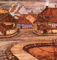 Мстислав Валерьянович Добужинский. Улица Тилто в старом Вильно