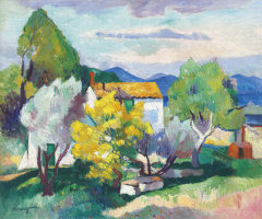 Henri Manguin. Mimosas in bloom
