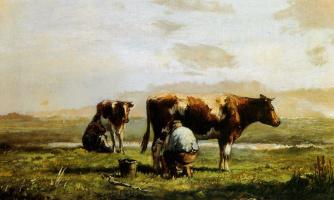 Ван Влиет. Пейзаж с коровами