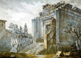 Шарль-Луи Клериссо. Храм Бахуса во дворце Диоклетиана в Сплите