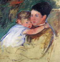 Mary Cassatte. Anne and her nanny. Sketch