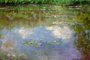 Клод Моне. Водяные лилии, облака