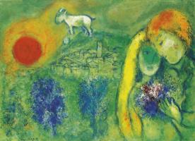 Marc Chagall. Lovers in Saint-Paul-de-Vence