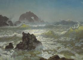 Альберт Бирштадт. Прибрежные скалы в Калифорнии