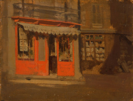 Walter Charles Sickert. Red shop, or October sun