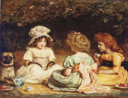 John Everett Millais. Evening tea (Gossip girl)
