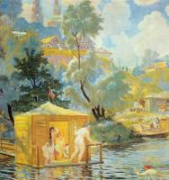 Борис Михайлович Кустодиев. Купанье