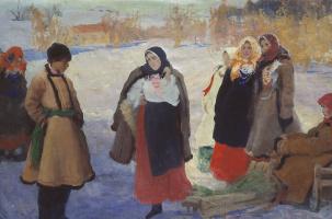 Pavel Dmitrievich Shmarov Russia-France 1874-1950. A meeting.