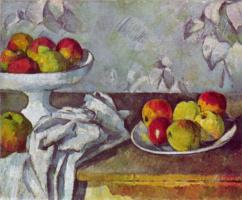 Поль Сезанн. Натюрморт с яблоками и блюдом для фруктов