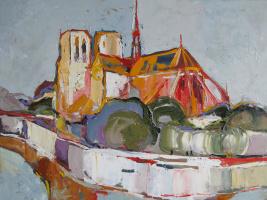 Anna Ivanovna Nosenko. Notre Dame. Paris
