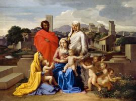 Святое семейство со Св. Анной, Елизаветой и Иоанном.