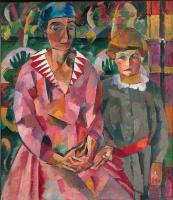 Аристарх Васильевич Лентулов. Портрет жены и дочери художника
