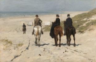 Антон Мауве. Утренняя поездка на пляже