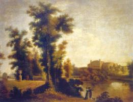 Семен Федорович Щедрин. Вид на Гатчинский дворец с Длинного острова