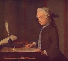 Жан Батист Симеон Шарден. Мальчик с волчком. Портрет Огюста Габриэля Годефроя
