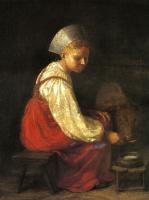 Алексей Гаврилович Венецианов. Девушка с теленком