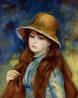 Pierre Auguste Renoir. Girl in straw hat