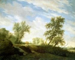 Саломон Якобс ван Рейсдал. Христос на пути в Эммаус