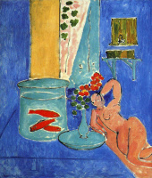 Henri Matisse. Red fish and sculpture