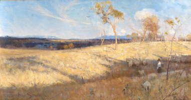 Arthur Ernest Streaton. Golden summer, Eaglemont
