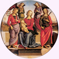 Пьетро Ваннуччи. Мадонна с младенцем и святыми