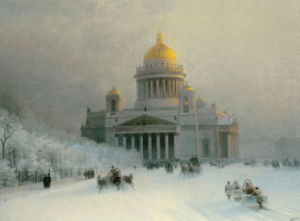 Исаакиевский собор в морозный день