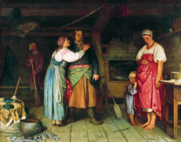 Sergeevich Firs Zhuravlev. The arrival of the cabman home. National Art Museum of the Republic of Belarus, Minsk
