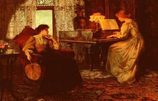 Фрэнсис Сидней Мушамп. Урок игры на пианино