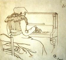 Александр Васильевич Шевченко. За пианино. 1906