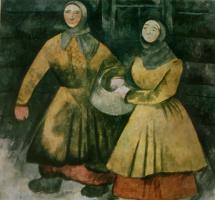 Александр Васильевич Шевченко. «Зубцов. Бабы» 1916