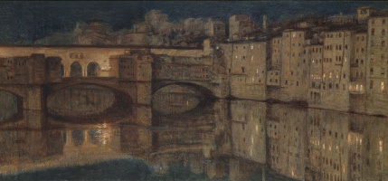 William Holman Hunt. Ponte Vecchio, Florence