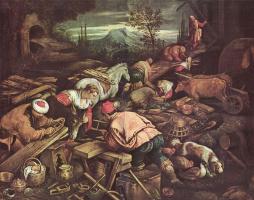 Якопо да Понте Бассано. Строительство Ноева ковчега