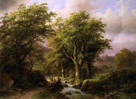 Иоганн Бернард Кломбекк. Человек на лесной тропинке