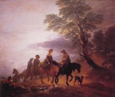 Томас Гейнсборо. Пейзаж с крестьянами