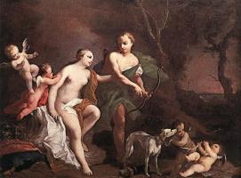 Якопо Амигони. Венера и Адонис
