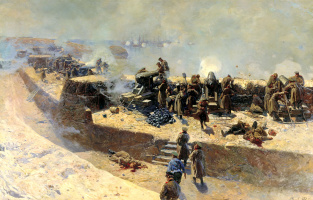 Франц Алексеевич Рубо. Отражение бомбардировки англо-французского флота