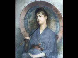 Анна Билинская-Богданович. Женщина с японским зонтиком