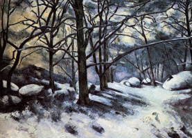 Paul Cezanne. Melting snow at Fontainebleau