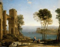 Клод Лоррен. Пейзаж с Аполлоном и Сивиллой Кумской