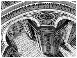Maurits Cornelis Escher. St. Peter's Cathedral in Rome