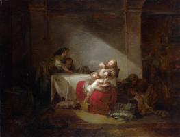 Жан Оноре Фрагонар. Сцена в интерьере