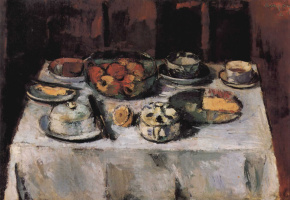 Антон Файстауер. Накрытый стол, натюрморт