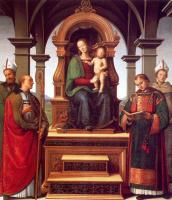 Пьетро Ваннуччи. Богородица на троне