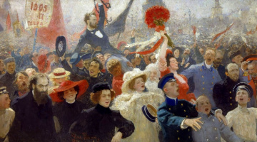 Илья Ефимович Репин. Манифестация. 17 октября 1905 года