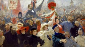 Ilya Efimovich Repin. Demonstration. 17 October 1905